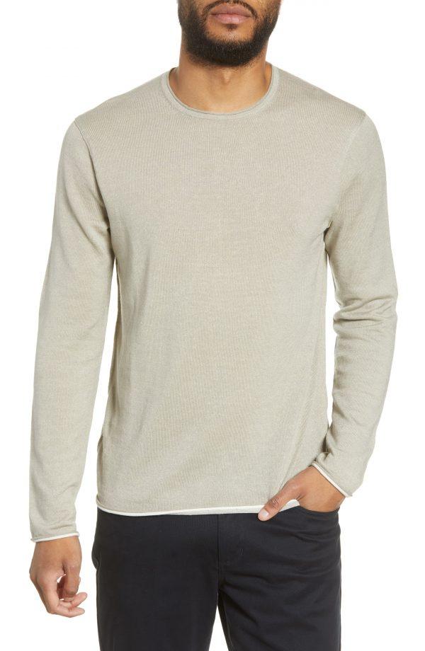 Men's Rag & Bone Trent Crewneck Wool Blend Sweater, Size Small - Grey