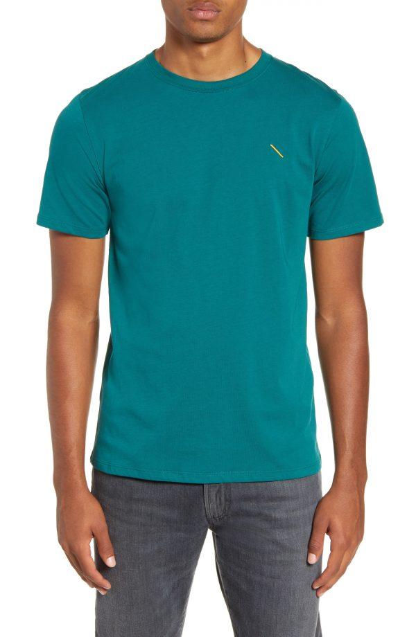 Men's Saturdays Nyc Embroidered Slash T-Shirt, Size X-Large - Green