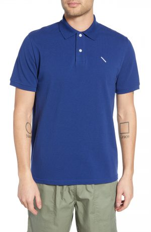 Men's Saturdays Nyc Jake Pique Polo, Size Large - Blue