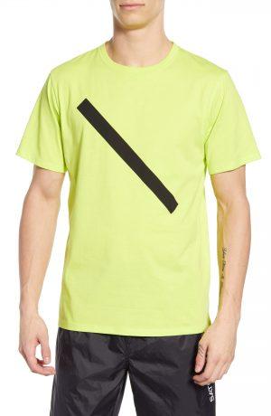 Men's Saturdays Nyc Slash Graphic T-Shirt, Size XX-Large - Green