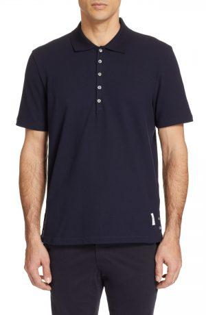 Men's Thom Browne Cotton Polo Shirt, Size 2 - Blue