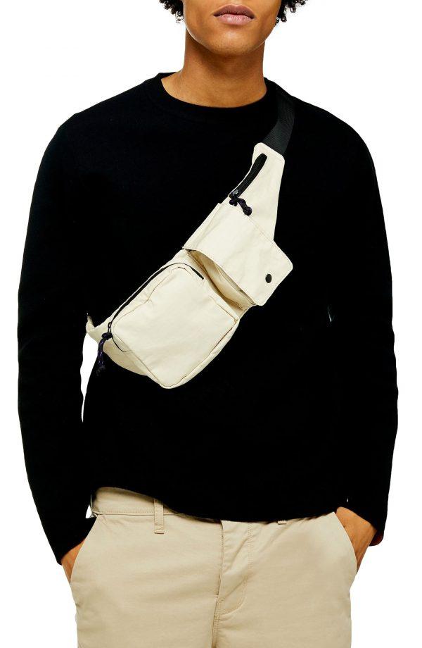 Men's Topman Double Knit Classic Fit Cotton Blend Sweater, Size Large - Black