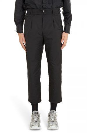 Men's Valentino '90S Fit Cropped Pants, Size 52 EU - Black
