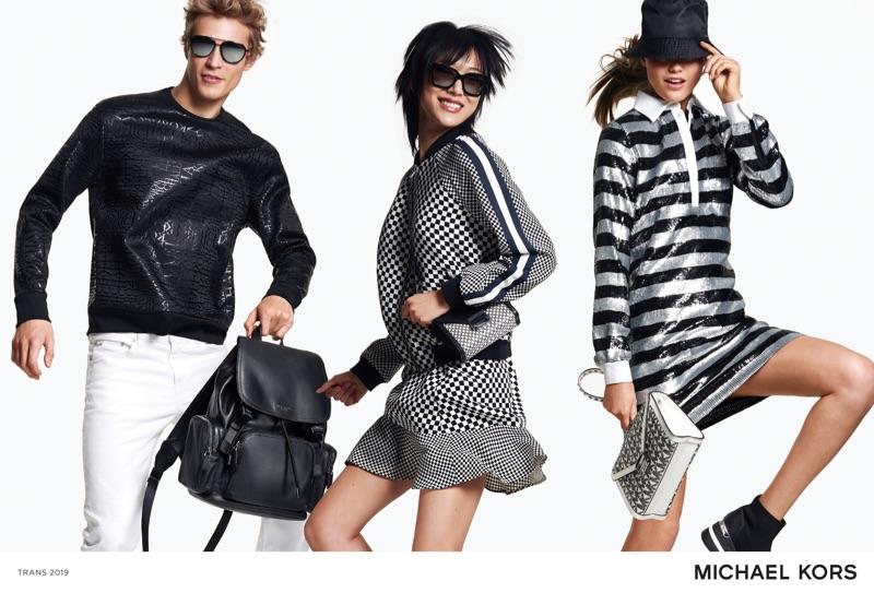 Models Sven de Vries,  Sora Choi, and Luna Bijl star in Michael Kors' summer 2019 campaign.