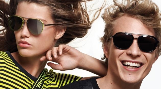 All smiles, Sven de Vries joins Luna Bijl for Michael Kors' summer 2019 campaign.