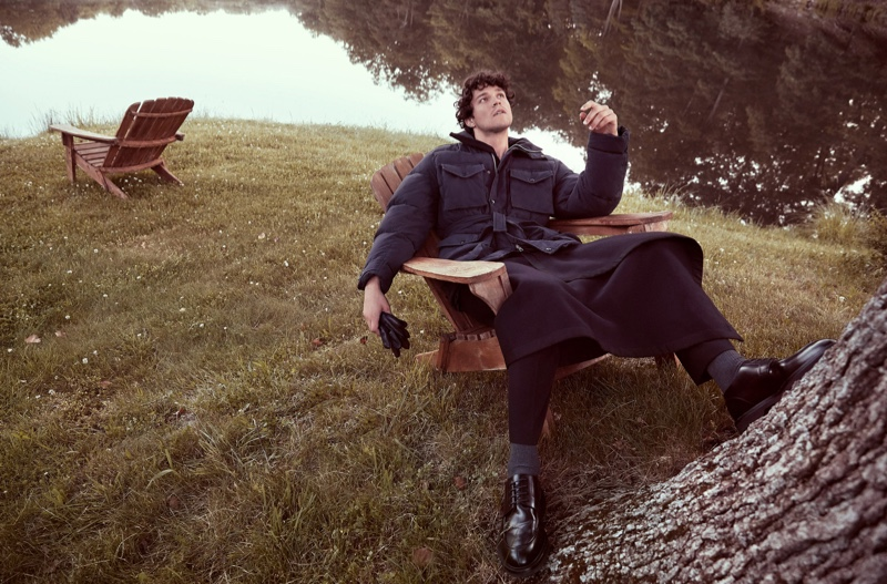 Miles McMillan Takes to Nature for GQ Russia