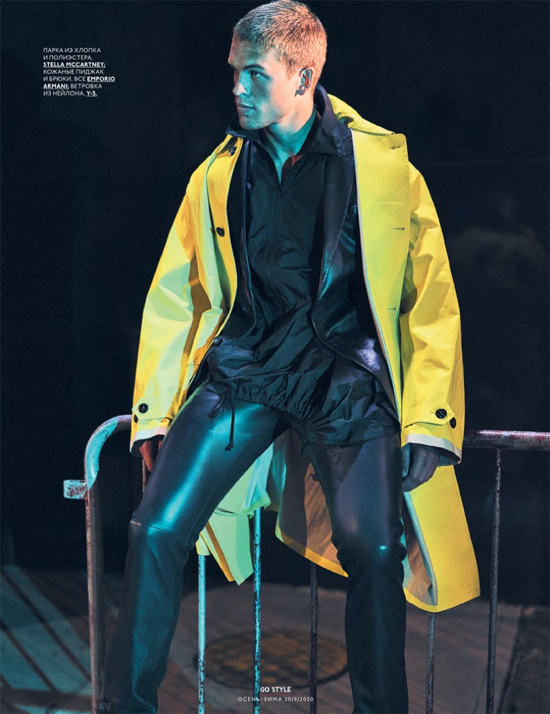 Mitchell Slaggert graces the pages of GQ Russia.