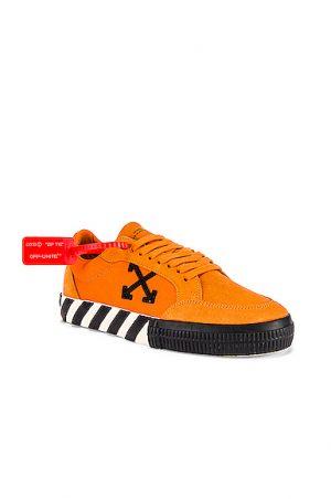 OFF-WHITE Low Vulcanized Sneaker in Orange