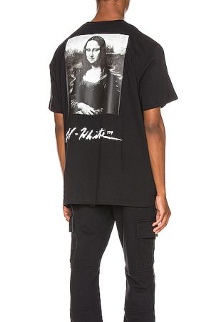 OFF-WHITE Mona Lisa Graphic Tee in Black