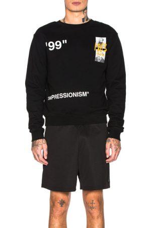 OFF-WHITE Summer Crewneck Sweatshirt in Black