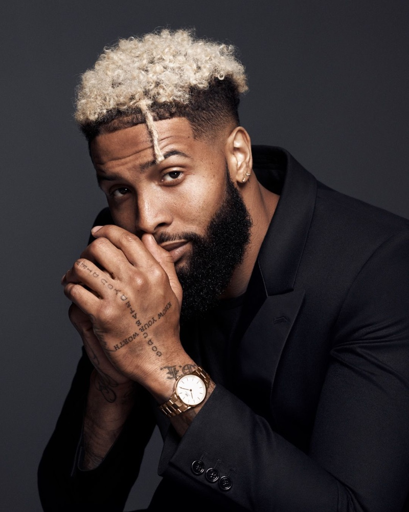 American footballer player Odell Beckham Jr. connects with Daniel Wellington for its Iconic Link campaign.
