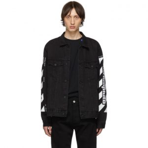 Off-White SSENSE Exclusive Black Denim Incomplete Jacket