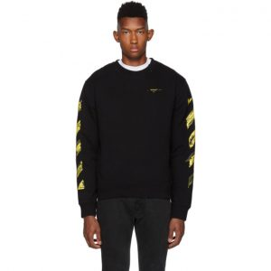Off-White SSENSE Exclusive Black and Yellow Acrylic Arrows Sweatshirt