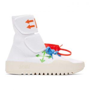 Off-White White Moto Wrap Sneakers
