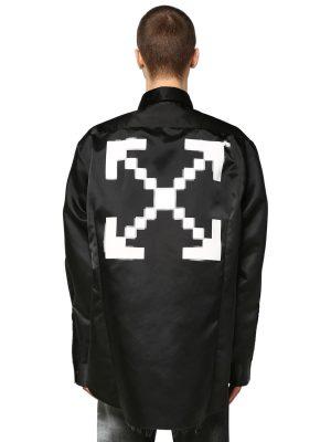 Oversize Printed Nylon Shirt
