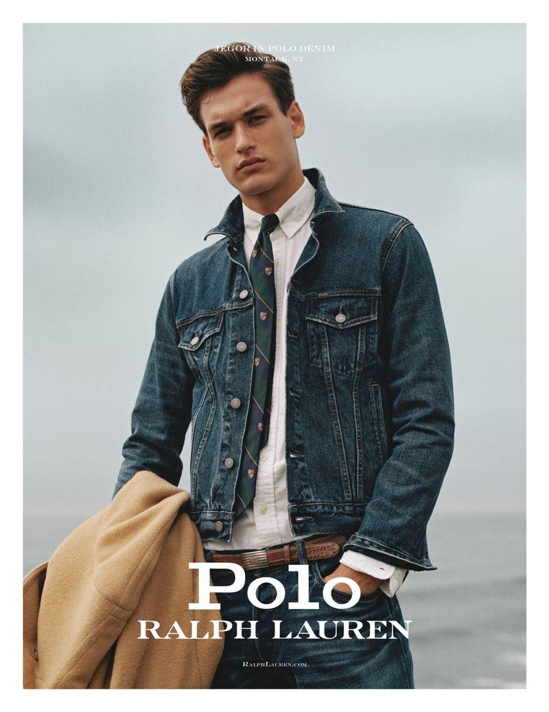 Jegor Venned stars in POLO Ralph Lauren's fall-winter 2019 men's denim campaign.