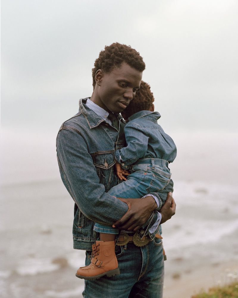 George Okeny and his son appear in POLO Ralph Lauren's fall-winter 2019 men's denim campaign.