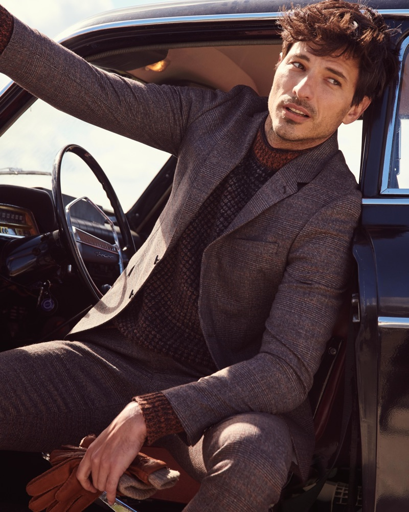 Spanish model Andres Velencoso appears in Peek & Cloppenburg's fall-winter 2019 campaign.