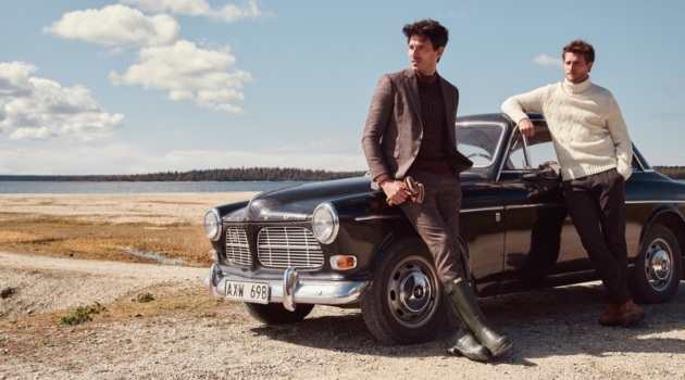 Models Andres Velencoso and Tom Warren star in Peek & Cloppenburg's fall-winter 2019 campaign.