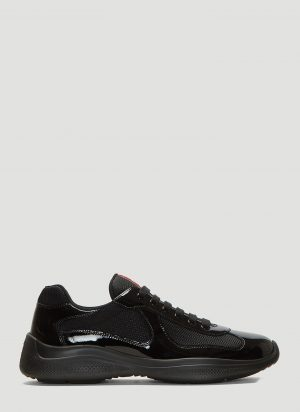 Prada America's Cup Lace-Up Sneakers in Black size UK - 08