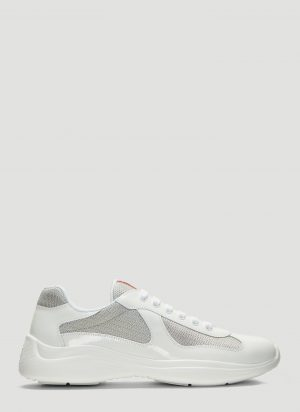 Prada America's Cup Lace-Up Sneakers in White size UK - 09