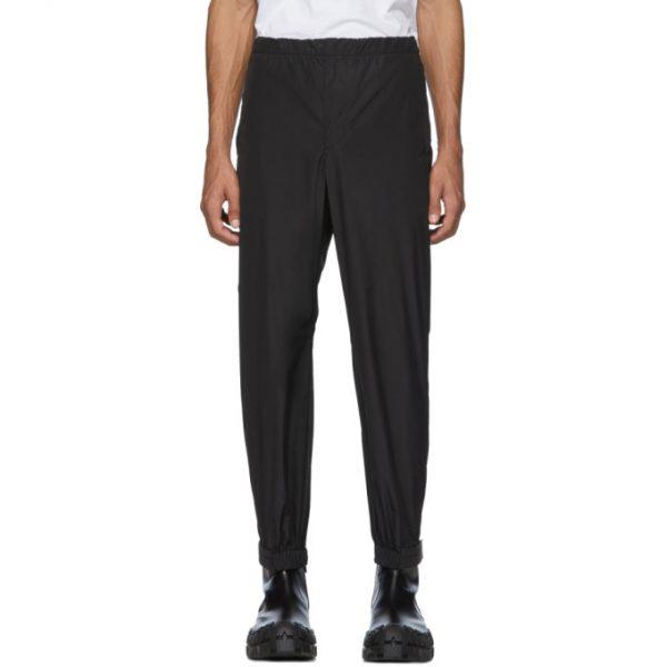 Prada Black Techno Poplin Trousers