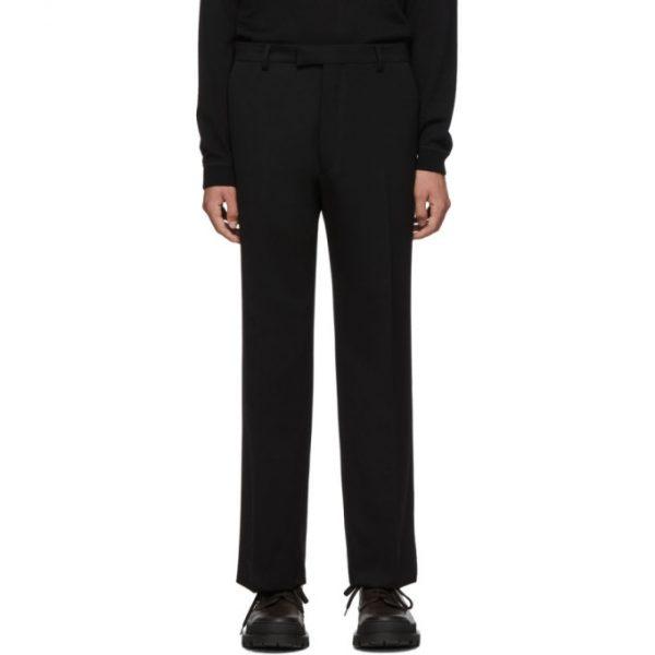 Prada Black Wool Satin Trousers