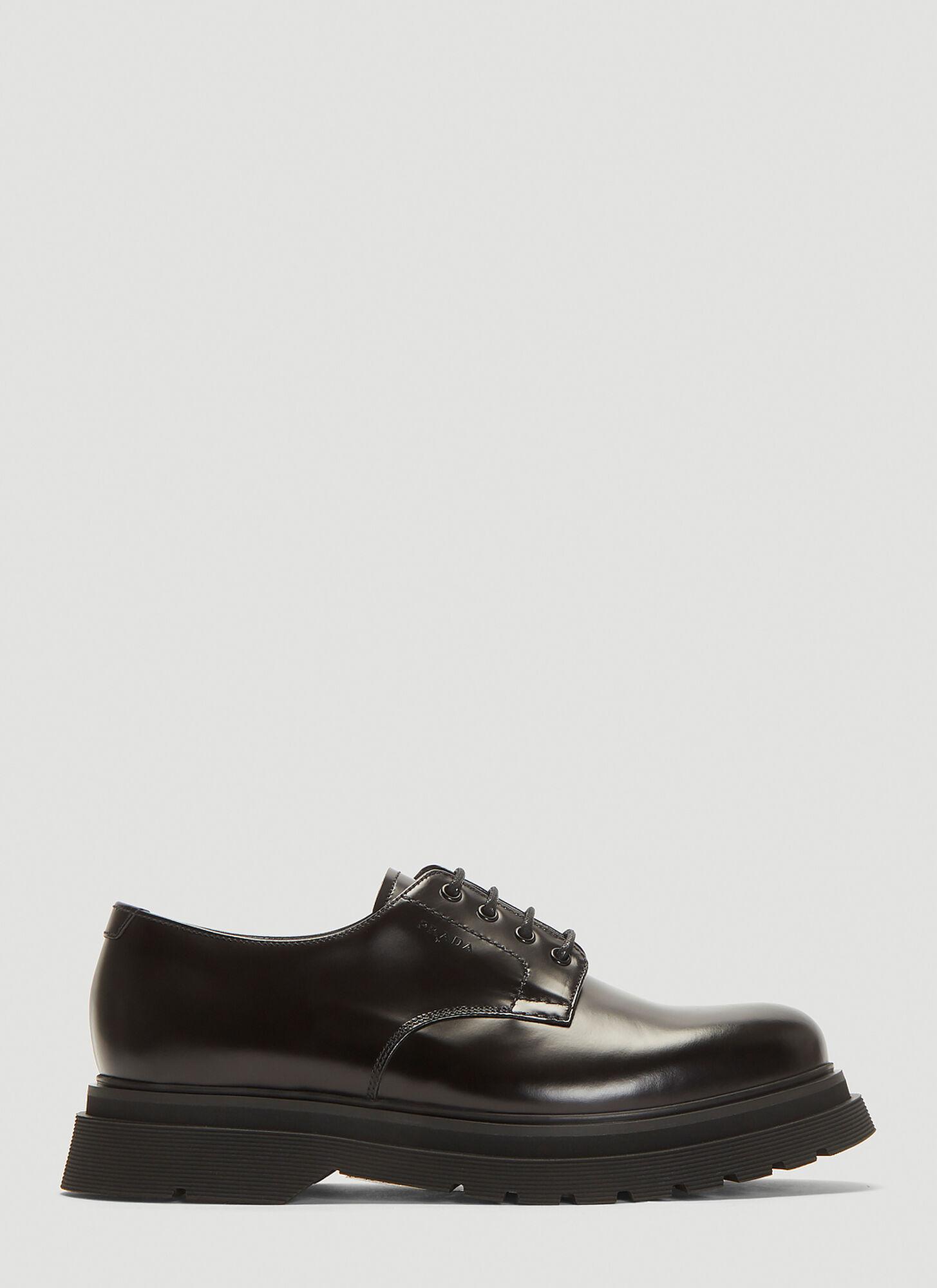 Prada Derby Shoes in Black size UK 07