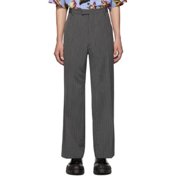 Prada Grey Mohair Classic Trousers