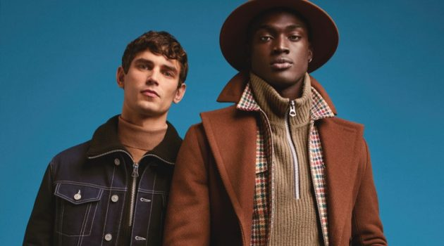 River Island enlists Arthur Gosse and Davidson Obennebo as the stars of its fall-winter 2019 campaign.