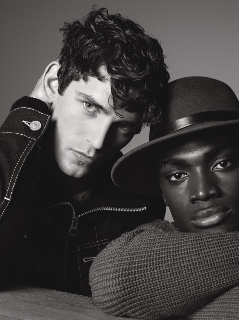 Arthur Gosse and Davidson Obennebo star in River Island's fall-winter 2019 campaign.
