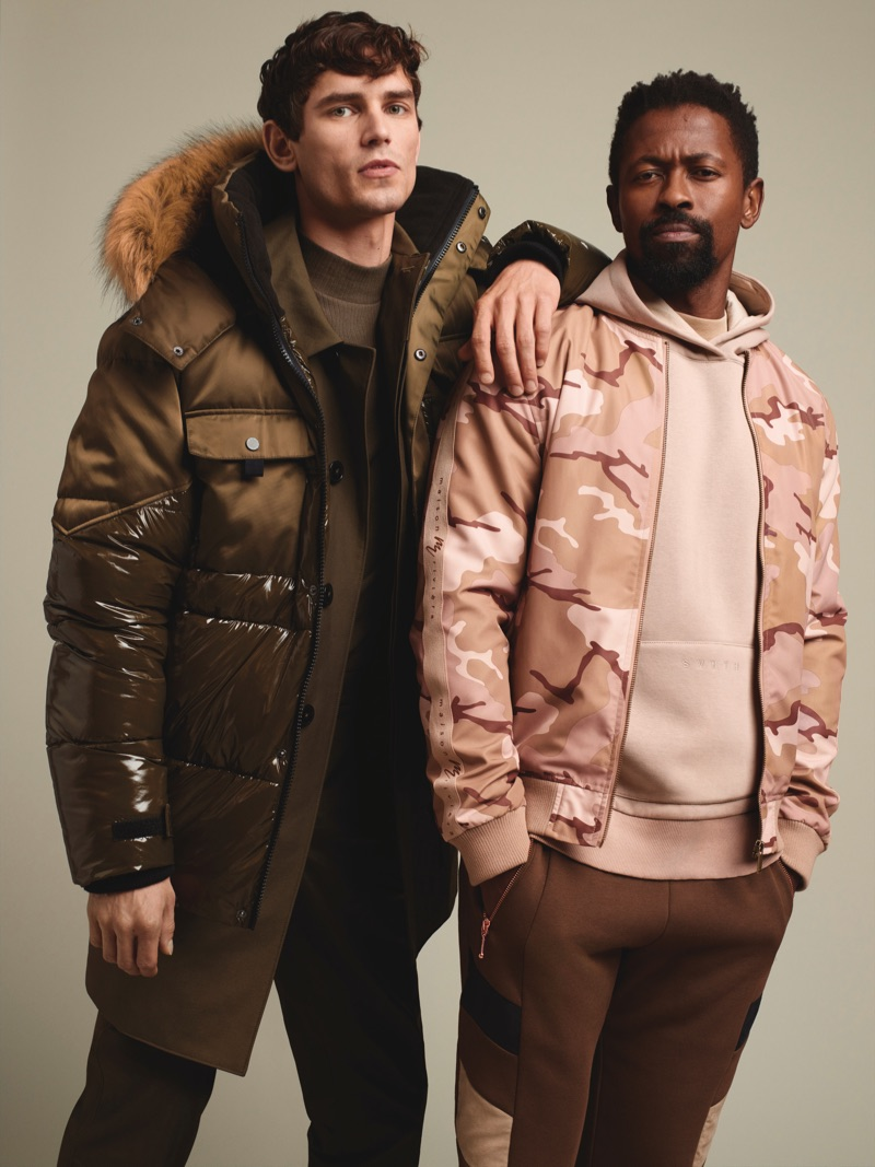 Embracing outdoors style, Arthur Gosse and Ezra Mabengeza come together for River Island's fall-winter 2019 campaign.