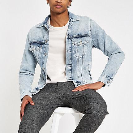 River Island Mens Pepe Jeans light blue denim jacket