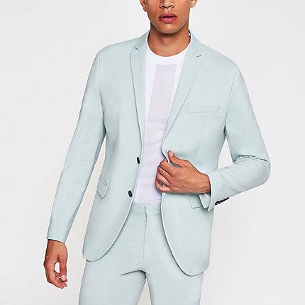 River Island Mens Selected Homme green slim fit suit blazer