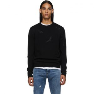 Saint Laurent Black Bat Sweater