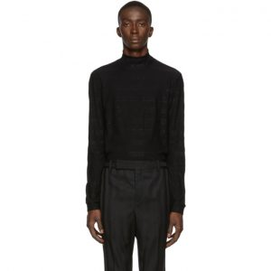 Saint Laurent Black Metallic Turtleneck