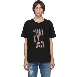Saint Laurent Black Poster T-Shirt