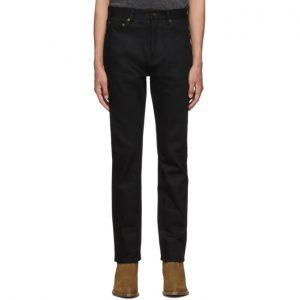 Saint Laurent Black Raw Selvedge Jeans