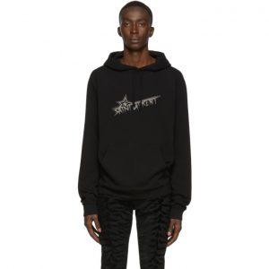 Saint Laurent Black Star Print Hoodie