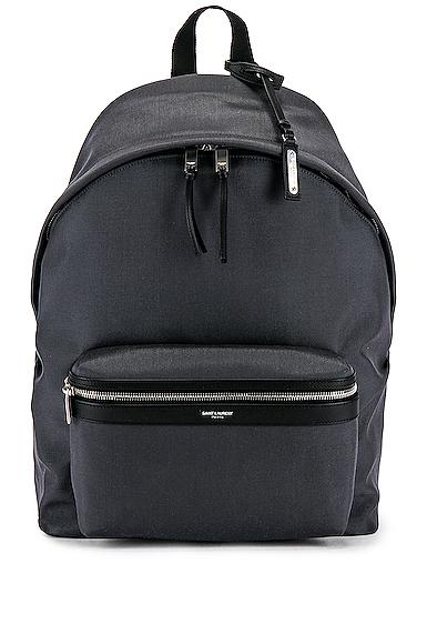 Saint Laurent City Backpack in Gray