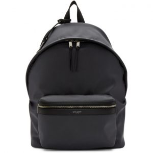 Saint Laurent Grey Canvas City Backpack