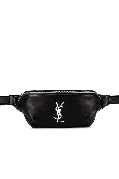Saint Laurent Logo Hip Bag in Black