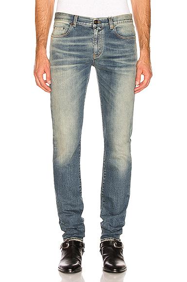 Saint Laurent Slim Jeans in Denim Medium