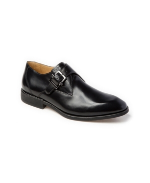 Sandro Moscoloni Plain Toe Monk Strap Slip-On Men's Shoes
