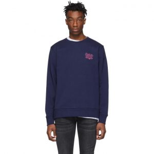 Saturdays NYC Blue Bowery Script Logo Sweatshirt