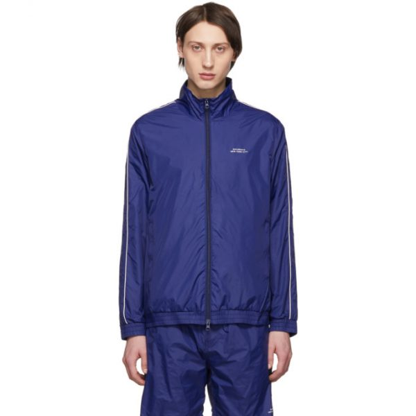 Saturdays NYC Blue Everett Track Jacket
