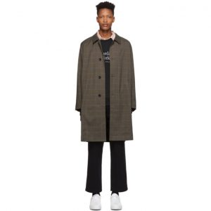 Saturdays NYC Khaki Plaid Daikanyama Over Coat