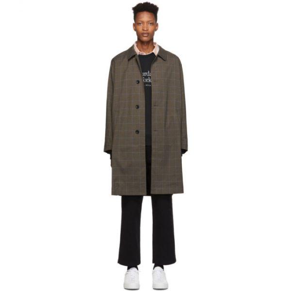 Saturdays NYC Khaki Plaid Daikanyama Over Coat