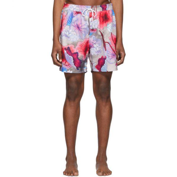 Saturdays NYC Multicolor Timothy Vivid Lotus Swim Shorts