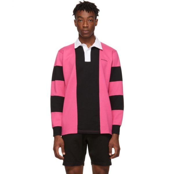 Saturdays NYC Pink and Black Sanders Polo